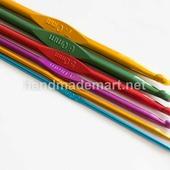 Крючок для вязания, Алюминиевый, Длина 150 мм, Крючок толщиной 6 мм