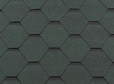 Гибкая битумная черепица RoofShield Стандарт Family Зеленый с оттенением