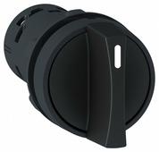 Выключатели нагрузки (рубильники) Переключатель 2-х позиционный черный 1НО+1НЗ Schneider Electric