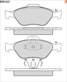Дисковые Тормозные Колодки R Brake R BRAKE арт. RB1343
