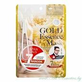 JAPAN GALS Маска для лица, курс 7шт, с золотым составом | 7шт | Gold Essence Mask, 7P