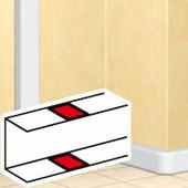 Накладка на стык профиля - самоклеющаяся - для односекционных кабель-каналов. Цвет Белый. Legrand DLP (Легранд ДЛП). 010692