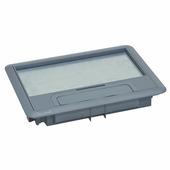 Крышка для напольной коробки пластик стандартное исполнение 8-12 модулей. Цвет Серый. Legrand (Легранд). 088000
