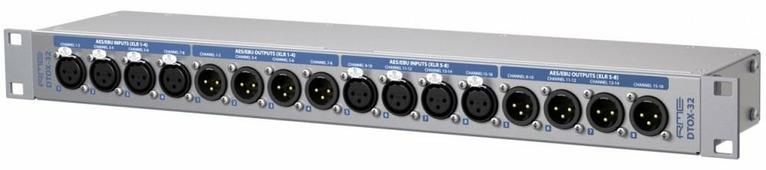 "RME DTOX-32 универсальный AES/EBU модуль расширения 2 x SUB-D 25-pin <-> 8 x XLR входов and 8 x XLR выходов. Tascam <-> Yamaha pinout-конвертер, 19"","