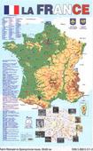 """Вакс Э.П. """"Карта франции на французском языке (58 х 87см.)"""""""
