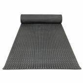 Противоскользящее напольное рулонное покрытие - Квадратное рифление. 1000; 1250; 1500 Черное