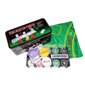 Набор для покера (200 фишек+ 2 колоды карт) 7104MY-113