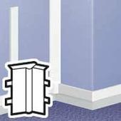 Угол внутренний - для мини-плинтусов 75x20. Цвет Белый. Legrand DLPlus (Легранд ДЛПюс). 030301