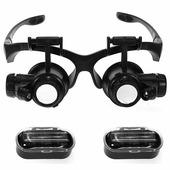 Лупа-очки Kromatech налобная 10/15/20/25x, с подсветкой (2 LED) MG9892G/GJ Kromatech (Кроматек)