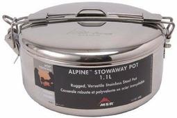 Кастрюля MSR с крышкой Alpine Stowaway Pots 1.1L 1.1Л