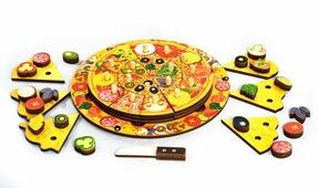 """Пазлы деревянные многослойные 54 элемента """"Пицца"""", 5 слоев (Нескучные игры)"""