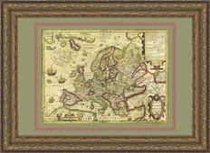 Новая Европа Йодокуса Хондиуса в багете, 88х68 см