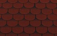 Гибкая битумная черепица RoofShield Готик Family Fl-G-31 Красный