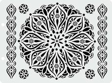 """Трафарет пластиковый Craft Premier """"Готический цветок"""", 12,5 х 17 см"""