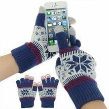 Модные перчатки для гаджетов с сенсорным экраном iPhone, iPad, Samsung, HTC и др. (синий)