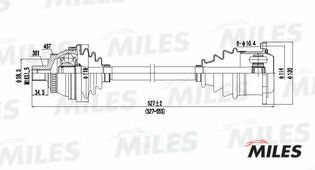 Привод В Сборе Audi A4 I 2.8 96-01 Лев. Abs Miles арт. GC01008