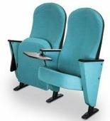 Эйва / ДЛ-7000 (пластиковая защита спинки, деревянный подлокотник со столиком пюпитр, убирающемся внутрь стойки)