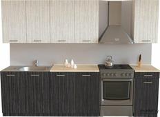 Кухонный гарнитур Хоум Лайн Луиза 2000 древесина графит/древесина белая