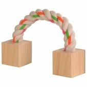 Игрушка TRIXIE для грызунов из дерева и веревки, 20см
