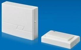 Volpe звонок беспроводной, 30м, 16 мелодий, бел., блистер UDB-Q020 W-R1T1-16S-30M-WH