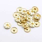 Кнопки пришивные металл 21 мм (10 шт), цвет золото