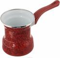 """Турка эмалированная """"Металац"""", цвет: красный, 400 мл"""