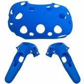 Силиконовые чехлы для очков и контроллеров HTC Vive синие