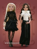 Tonner Woeful Black Ribbed Top (Скорбная черная полосатая кофточка для кукол Тоннер)