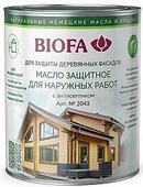 2043 Масло защитное для наружных работ с антисептиком BIOFA (Биофа) - 4309 шоколадно-коричневый, 10 л, Производитель: Biofa