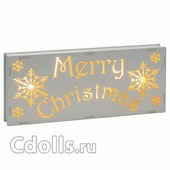 Новогоднее украшение Suki Frozen Forest Merry Christmas Light-Up Plaque (Зуки Табличка Merry Christmas с подсветкой из коллекции Замороженный лес)