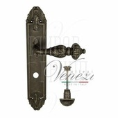 Дверная ручка на планке Venezia Lucrecia PL90 античное серебро wc