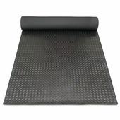 Рулонное покрытие для пола грязезащитное - Елочное рифление. 1000; 1200; 1250; Черное