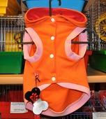 Одежда для собак Толстовка с капюшоном Косточка оранжевая 30см