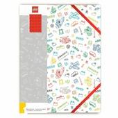 LEGO Книга для записей с красным кубиком 51666 Белая