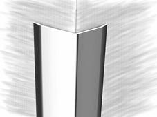 Уголок из нержавеющей стали 20х20 зеркальная гладь 250см