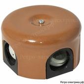 Ретро коробка Царский стиль, цвет Какао, 90 мм