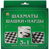 Набор игр Рыжий КОТ Шахматы, шашки, нарды / ИН-1619