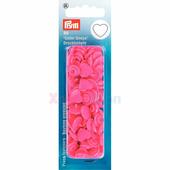 "Кнопки Color Snaps ""Сердце"" пластик 30 шт ярко-розовый Prym 393347"