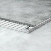 Уголок для плитки L образный из нержавеющей стали шлифованный 12мм 270 см