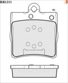 Дисковые Тормозные Колодки R Brake R BRAKE арт. RB1311