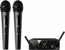 AKG WMS40 Mini2 Vocal Set US45AC (660.700&662.300) вокальная радиосистема с приёмником SR40 Mini Dual и двумя ручными передатчиками