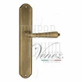 Дверная ручка на планке Venezia Vignole PL02 матовая бронза