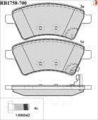 Дисковые Тормозные Колодки R Brake R BRAKE арт. RB1758700