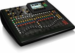 Behringer X32 Compact - цифровая микшерная консоль - 16 программируемых MIDAS предусилителей, 17 моторизированных фейдера, ЖК экран каналов, USB аудио интерфейс и дистанционное управление iPad/iPhone