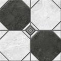 Плитка из керамогранита Керамин Лимбург 1Д тип 2 Керамогранит черно-белый микс