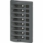 Панель выключателей водонепроницаемая Blue Sea WeatherDeck 4378 8 автоматов 108 x 196 мм