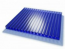 Поликарбонат сотовый Sunnex Синий 8 мм
