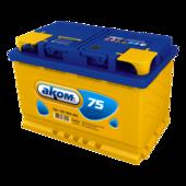 Аккумулятор для легковых автомобилей АКОМ AKOM 6CT-75 Рус (75 A/h), 700А L+