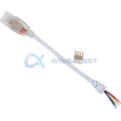 SCJM14ESB Ecola LED strip 220V connector кабель RGB 150мм с муфтой и разъемом IP68 для ленты RGB 14x7