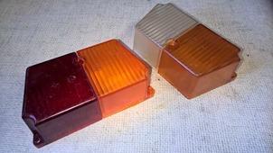 стекла поворотников переднего и заднего коляски Урал комплект